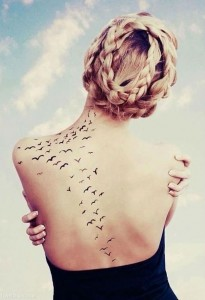 tattoo birds back
